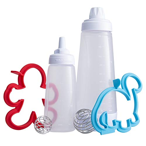 Whiskware Pfannkuchen Art Kit - Teig Mixer - Komplettlösung für Pancakes, Waffeln, Crêpes inkl. zwei Silikonformen & Mini Teig Mixer | mit BlenderBall Schneebesen | BPA frei