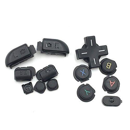 Ersatzknöpfe für Nintendo 3DS XL LL Schwarz R & L Zr ZL Button Teile D Pad (Oberfläche in Home Power Button Set
