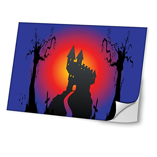 Halloween 10016, Skin-Aufkleber Folie Sticker Laptop Vinyl Designfolie Decal mit Ledernachbildung Laminat und Farbig Design für Laptop 11.6