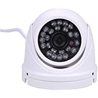 KKmoon 1.0MP Mini Sicurezza Esterno/Interno IP CCTV Dome Telecamera Custodia Metallo IR Visione Notturna ONVIF P2P Plug&Play