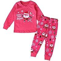 MUCHAO Wenig Jungen Mädchen Weihnachten Drucken Schlafanzug Sets Kleinkind Nachtwäsche Hose Set
