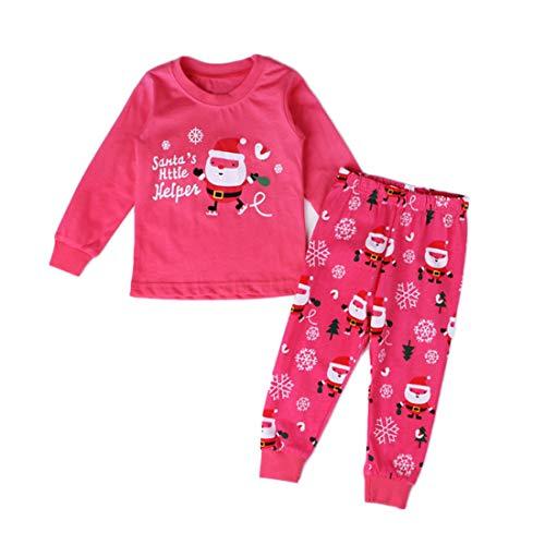 MUCHAO Wenig Jungen Mädchen Weihnachten Drucken Schlafanzug Sets Kleinkind Nachtwäsche Hose Set -