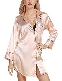 Luxspire Batas y Kimonos para Mujer, Vestido Pijama Mujer Kimono Corto Bata Lencería Kimono del