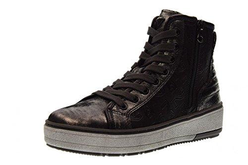 NERO GIARDINI Scarpe Donna Sneakers Alte A719582D/141 Acciaio Grigio acciaio