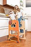 Torre de Aprendizaje para Dos, Escritorio y Taburete Montessori - Perro Veloz