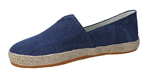 Scarpe espadrillas uomo casual blu scuro mocassini sneakers shoes (41)