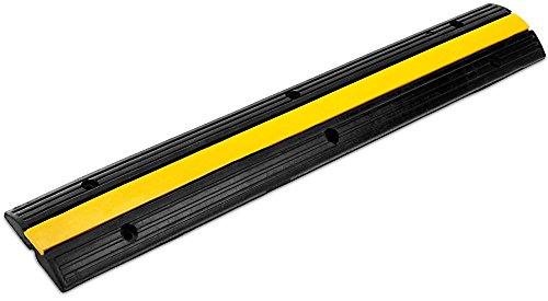 Pronomic Protector 1-100 Kabelbrücke 1-Kanal 100 x 15 x 3 cm +/- 1% schwarz/Signalgelb (Kanalmaß B x H: 18 x 18 mm, Befestigungsaussparungen: 6, Material: Kautschuk/Kunststoff, Gewicht: 4,1 kg)