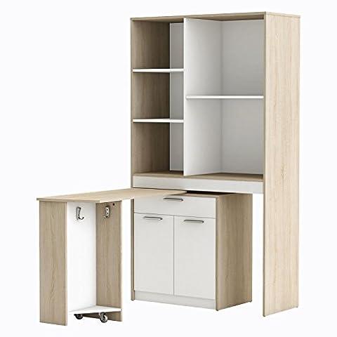 Hochschrank COUSINE 718 Küchenschrank Küchenregal Buffetschrank weiß sonoma-eiche