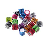 Xuniu 20 Stücke Taube Identifizieren Taube Ringe Bein Ringe Bands Aluminium Ring Trainingsgerät (Farbe Nach Dem Zufall)