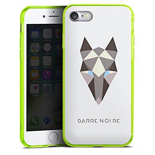 Apple iPhone 7 Silikon Hülle Case Schutzhülle Fuchs Muster Fox Silikon Colour Case neon-grün