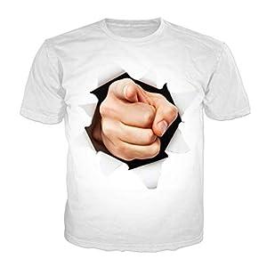 ZzSTX 3D Print Lustige T-Shirt Männer Frauen Unisex T-Shirts Hip Hop T-Shirt Manga