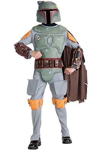 Fett Kind Boba Kostüm - Star Wars Deluxe Kinder Kostüm Boba Fett Größe M 5 bis 7 Jahre (128cm)