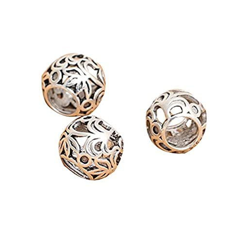 4 Sterling Silver Rondelle Bead for European Bracelet, 925 Silver