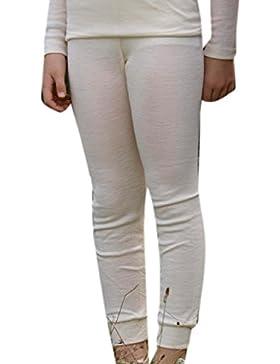 Kinder Unterhose lang, 100% Schurwolle extrafein, Gr. 92-176