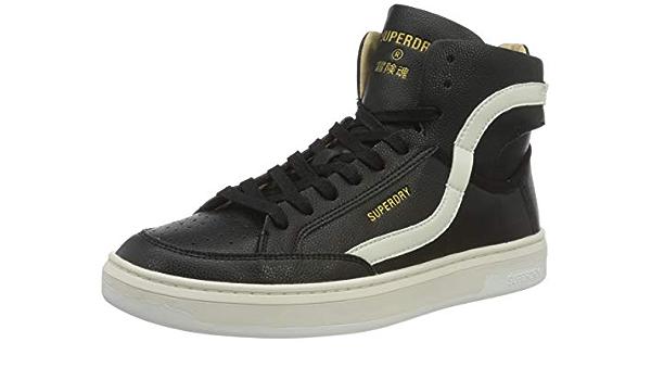 Scarpe sneakers superdry basket lux trainer, scarpe da ginnastica uomo MF110078A