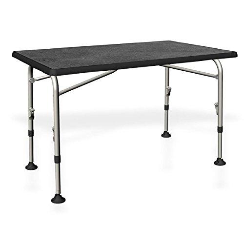 Basalto Darker | Mesa plegable aluminioy madera–115x 70cm –Altura regulable