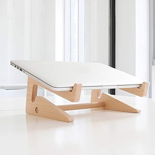 Stand MEIDUO Holz Laptop belüftet Schreibtisch Notebook Halter Computer Riser Halterungen kompatibel mit 11-15in Oberfläche etc. - Natur Bambus sehr langlebig