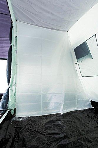 CampFeuer - 6 Personen Familienzelt, riesiger Vorraum, 5000 mm Wassersäule, Campingzelt, (+ 6 weitere Personen im Vorraum möglich) - 7