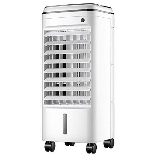 DULPLAY Portable Refroidisseur d'air, Mobile Stand Up Brumisation Ventilateur De Refroidissement avec Télécommande Personnels Air Climatiseur Indoor-Blanc 25x26x60cm(10x10x24inch)