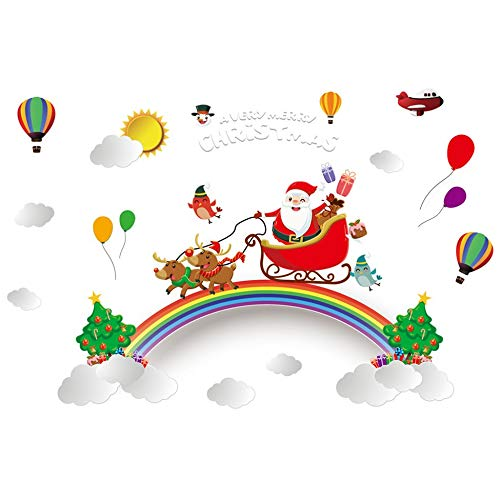 Creative Christmas Static Cling Sticker Paste PVC Decoractive Removable HYC-81 multicolor