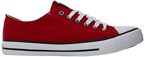 MTNG Herren Emi Sneakers Rot (Canvas Fino Rojo)