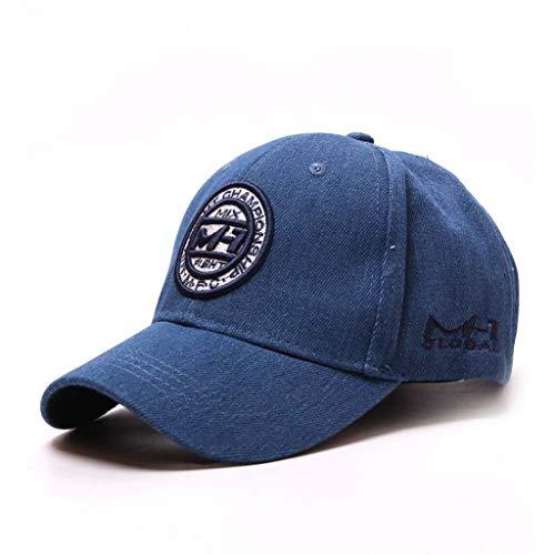 Unisex Männer Frauen Baseball Stickerei Atmungsaktiv Mode Caps Einzigartiges Design Flat Top Dad Cap Kappe Sonnenhut Einstellbar Baumwolle Hip Hop Sommer Strand Hut (Blau)