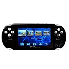 "Handheld Game Console , 650 Classic Games 4.3"" 64 Bit Portable Game Console PAP-GametaII Support GBA / GBC / SEGA / NES / SFC / NEOGEO - Black (Black)"