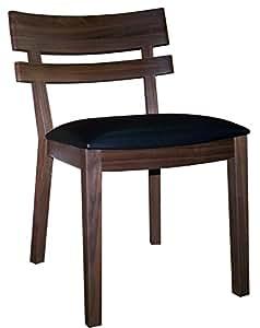 Neuf haute qualité Chaise en bois de cerisier foncé Cadre, assise en cuir