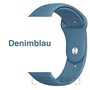 Armband für Apple Watch in Denimblau 38/40mm passend für Apple Watch 1 2 3 4 5