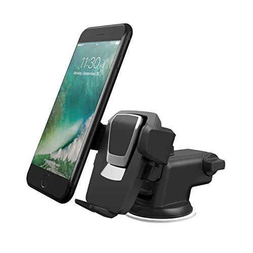Soporte para Móvil Coche para Soporte y Montaje Universal con Ventosa de Gel Más Fuerte y Brazo Ajustable Giro 360 Grado Compatible con iPhone X/8/8Plus/7/7Plus/6/6s/6Plus/SE/5S y Otros