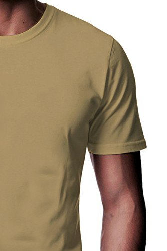 London Los Angeles New York Panoramic Men Women Damen Herren Unisex Top T Shirt Sand(Cream)