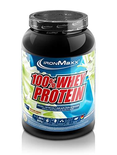IronMaxx 100% Whey Protein - Proteinpulver auf Wasserbasis - Eiweißpulver mit Pistazie-Kokos Geschmack - 1 x 900 g Dose -