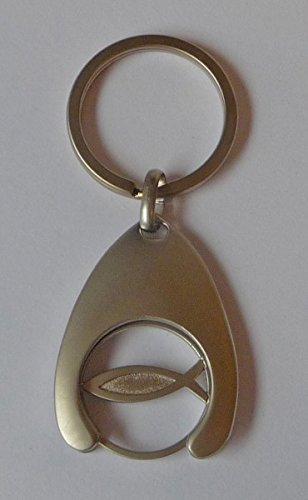 Schlüsselanhänger 'Fisch mit - Geschenke Hochzeit Katholische