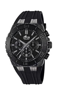 Reloj Lotus 15803/1 de cuarzo para hombre con correa de caucho, color negro de Lotus