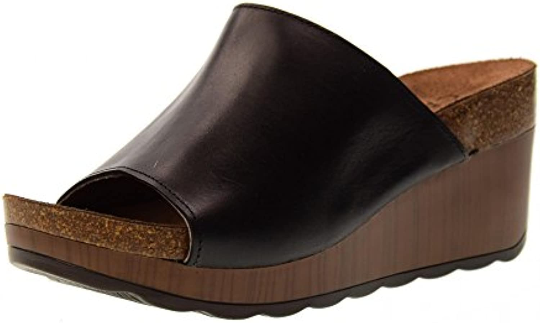 Carmela Zapatos Mujer Zapatillas Cuña 66304 Negro