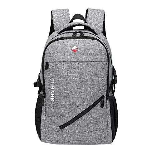 XNBZW Unisex Oxford Rucksack Freien Einfache Leinwand Reißverschluss Reisetasche Schulrucksäcke Damen & Herren Studententasche Umhängetasche(Grau,30 * 45 * 16 cm) (5. Klasse Querflöte)