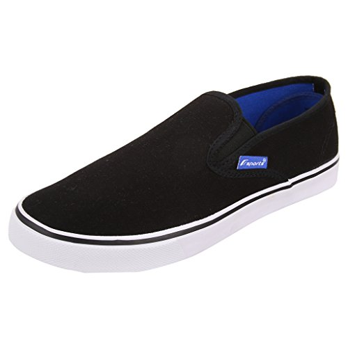 Fsports Men's Black Canvas Casual Shoes 7UK  available at amazon for Rs.599