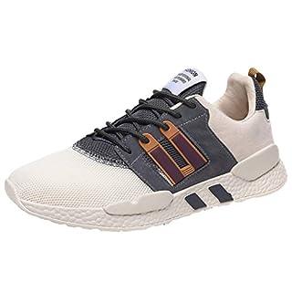 Mesh Ultra leicht atmungsaktiv Sport Laufen Casual Gym Schuhe Mode Schuh Outdoor Walking Sneaker (44 EU, beige)