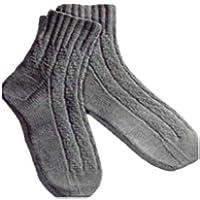 #1683 NOVELTY-RIB ANKLET VINTAGE KNITTING PATTERN (English (Rib Socks)