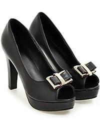 Zapatos de tacón Super Primavera Verano Sra Grueso De Boca Baja Zapatos De  Plataforma 2cm Para 3c73f8923bdc