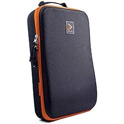 IAMRUNBOX Garment Bag - Custodia vestiti, Borsa Porta Abiti da Viaggio - Doublepack (Arancione)