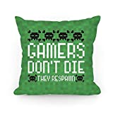 Jacklee Funda de cojín para sofá con Gamers Don't Die, decoración del hogar, 45,7 x 45,7 cm