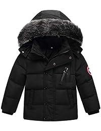 Kinder Jungen Mädchen Daunenjacke Verdickung mit Fellkapuze Outerwear Winterjacke Oberbekleidung Winter Kleidung Kinderjacke Wintermantel Mantel Daunenjacke