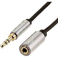 AmazonBasics - Cable alargador de audio estéreo (conector 3,5 mm macho a hembra, 3,6 m)