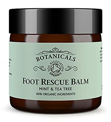 Foot Balm for Cracked Heels, Hard Skin, Fungal Nail & Athletes Foot Cream - 100% Natural and Certified Organic, Chemical Free Treatment Safe for Diabetics, Mint & Tea Tree (60g)