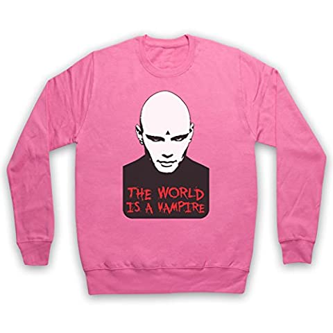 Inspired by Smashing Pumpkins Bullet Butterfly Wings Unofficial Adults Sweatshirt, Pink, 2XL