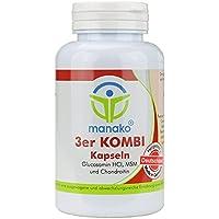 manako 3er KOMBI Kapseln Glucosamin MSM Chondroitin, 120 Stück, Dose 84 g (1 x 120 Kapseln) preisvergleich bei billige-tabletten.eu