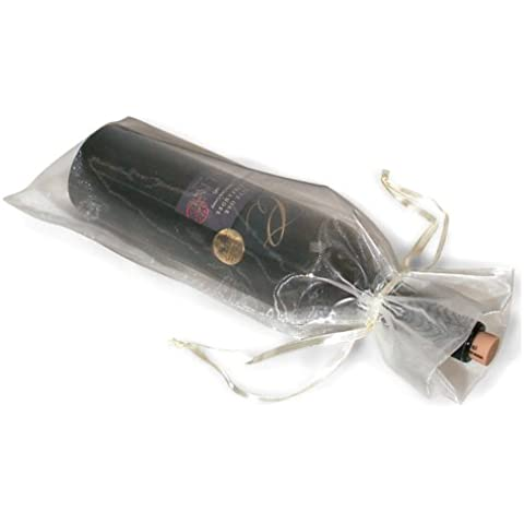 Para botella de vino Wrap Bag bolsas de Organza de regalo bolsas * Paquete de 20