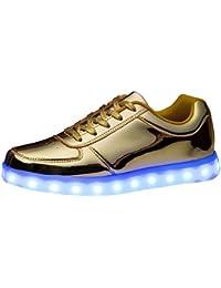 (Present:kleines Handtuch)Silber EU 37, Leuchtend JUNGLEST® Sneaker LED 7 Schuhe (TM) Sportschuhe Sport Aufladen mode Farbe Unisex-Erwachsene