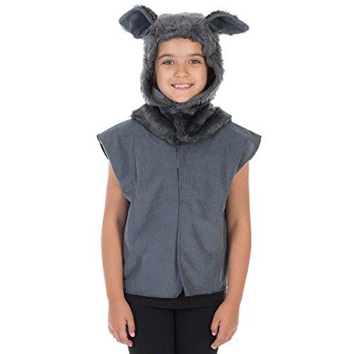 Unbekannt Charlie Crow Wolfs Kostüm Für Kinder - Einheitsgröße 3-9 Jahre.